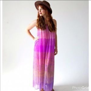 vintage ombré purple boho dress XS/S